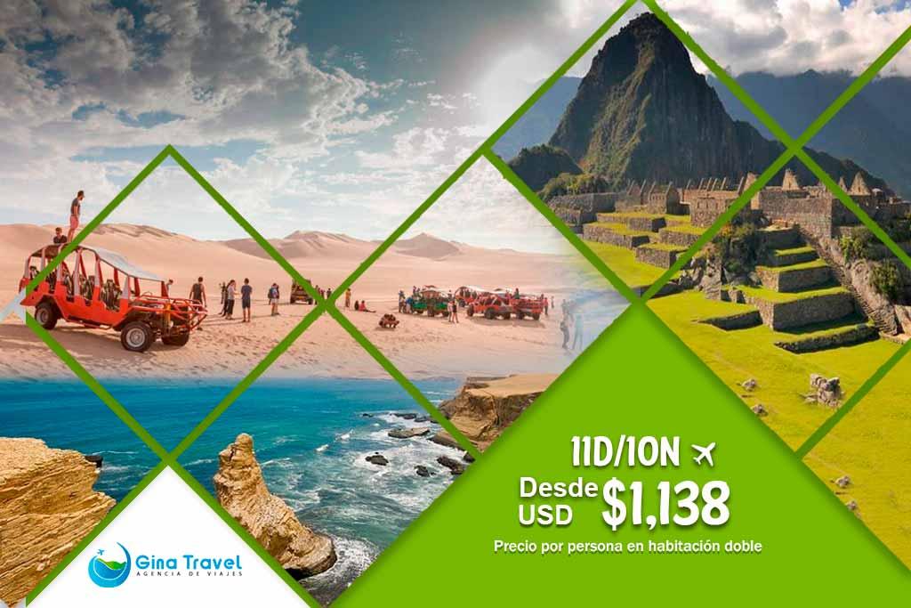 Lima, Paracas, Ica, Nazca y Cusco