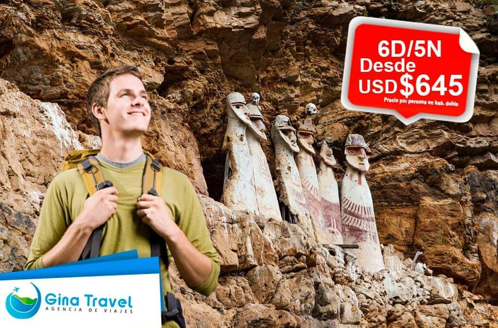 Paquetes Turísticos a Chachapoyas – Catarata Gocta, Kuelap, Leymebamba y Karajía