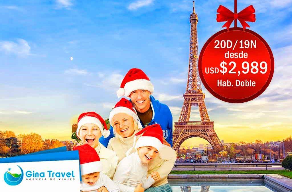 paquetes navidad y anio nuevo en paris y roma