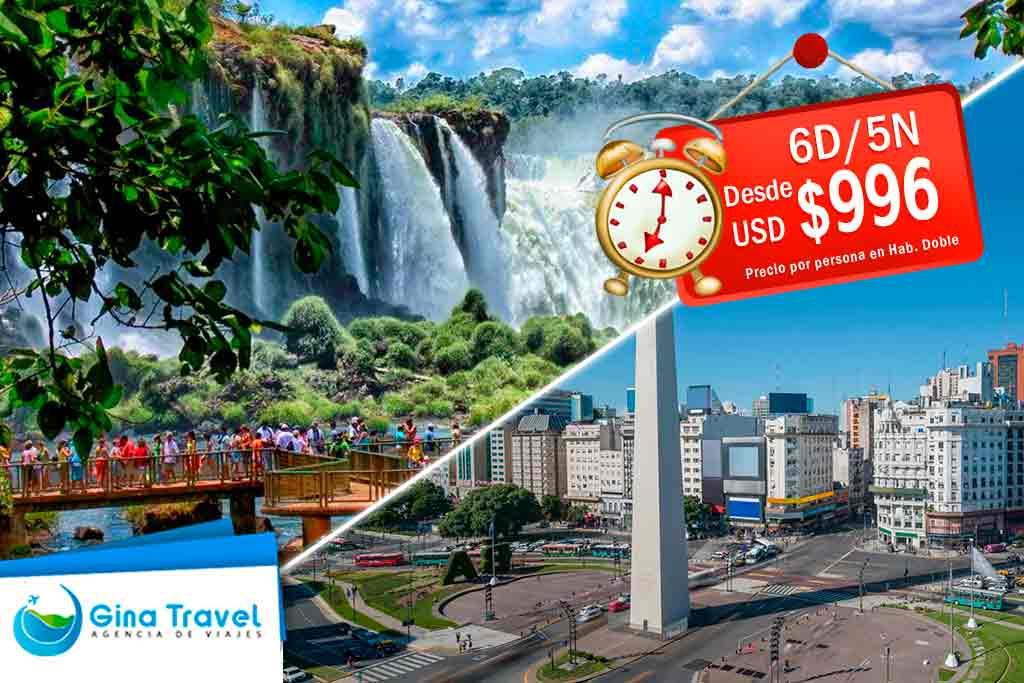 Ofertas a Iguazú y Buenos Aires
